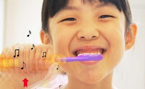 Harmonious Dental Hygiene - The TTone Interaction Toothbrush Makes Teeth-Cleaning Entertaining Too