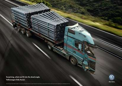 Angled Auto Ads - The Volkswagen Side Assist Ad Campaign Makes a Serious Point