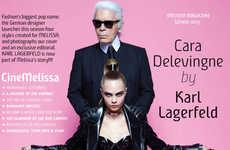 Shoe-Obsessed Vixens - The Melissa Magazine 'Plastic Dreams' Editorial Stars Cara Delevingne