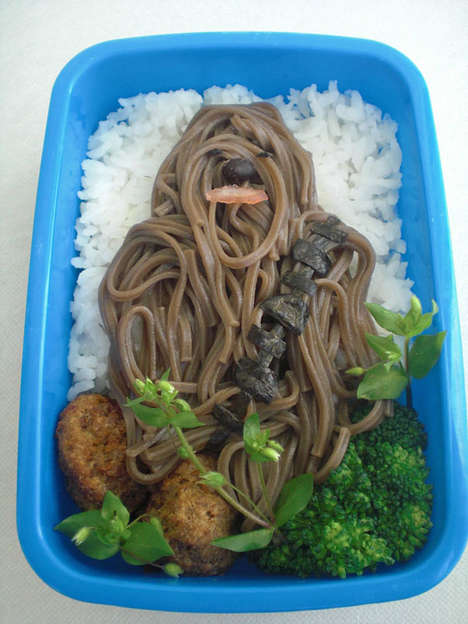 Sci-Fi Character Lunches - Disposable Aardvarks Inc. Created This Star Wars Character from Soba Nood