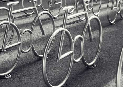 Bike-Shaped Bike Racks - The MAD Peleton by MAD Arkitekter is Like a Large Art Installation