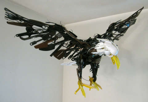 Scrap Metal Animal Sculptures