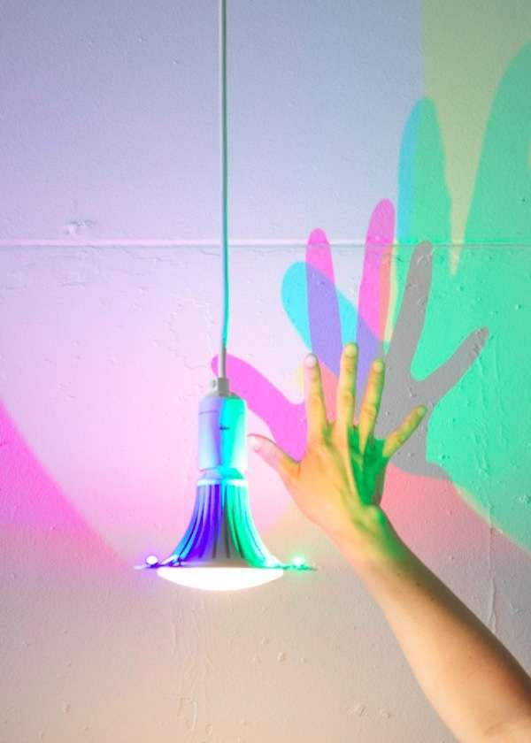 Colored Shadow-Casting Lightbulbs