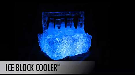 cooler and ice