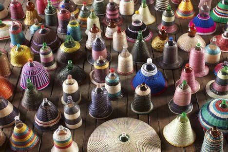 Woven Bottle Illuminators - Target Waste in the Amazon with a PET Recycled Plastic Lamp Shade