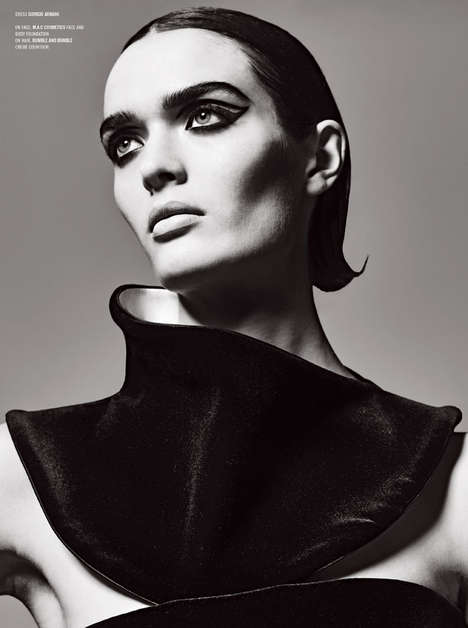 Dramatic Grayscale Editorials - The V Magazine