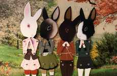 Pop-Out Paper Puppets - Add Girly Decor to a Room with Paper Doll Art from Wool & Water