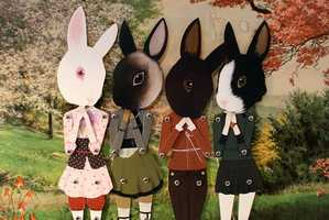 Add Girly Decor to a Room with Paper Doll Art from Wool & Water