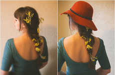 Chic Floral Hair Tutorials - This DIY Activity Utilizes Flowers to Accentuate Your Hairstyle