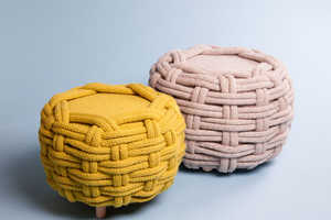 Claire-Anne O'Brien Uses Oversized Knits to Create Comfy Furniture