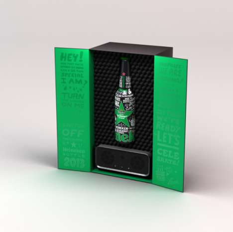 Bluetooth Beer Boxes - The Heineken x Lowdi x Ed Banger Speaker System Provides Music and Libations