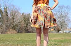 Homemade High-Waisted Skirts