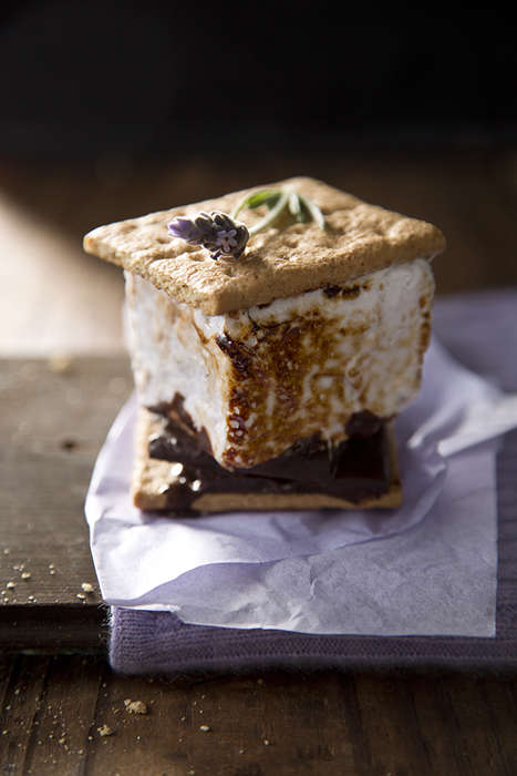 Lavender Chocolate S'mores - These 'Salted and Styled' Campfire Snacks are a Gourm