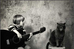 Andy Prokh Captures His Daughter Katherine and Their Lovely Cat