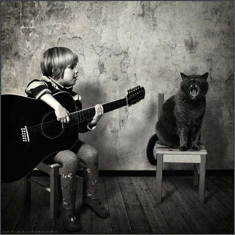 Best Friend Feline Photography - Andy Prokh Captures His Daughter Katherine and Their Lovely Cat