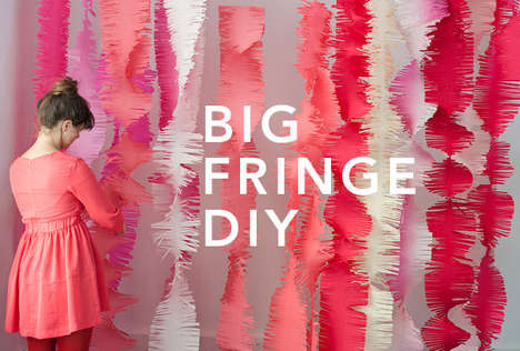 DIY Fringed Decor - Decorate Parties In Unconventional Garland with this