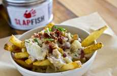 16 Plentiful Poutine Options - From Poutine-Inspired Desserts to Saucy Seafood Fries