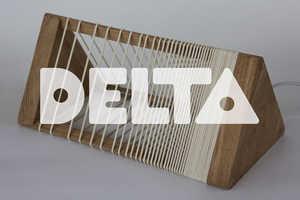 The Delta Lamp's Rubber Band Design Allows for Creative Control