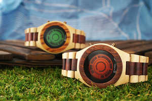 Tokyoflash Japan's Kisai LCD Watches are Futuristic Works of Wooden Art