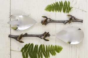 The Branch and Leaf Serving Set Brings Whimsy to the Dining Table