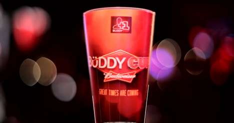 Social App Drinking Cups - Adding People on Facebook is Made Easier by the Budweiser Cup