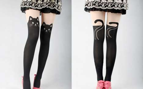 Cat Face Stockings