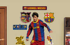 Life-Sized Soccer Player Posters - Posters of Soccer Stars Make You Feel Like They