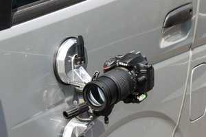 The Suction Cup Camera Mount by Thanko Easily Captures Unique Angles