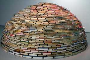 Home by Miler Lagos is an Igloo Entirely Made from Books