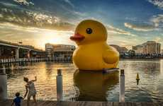 Gargantuan Rubber Ducks - Artist Florentijin Hofman Has Created a Giant Floating Rubber Duck