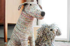 Recycled Canine Companions - Maggie and Oatmeal from Olive & Cocoa Are Made from Old Newspaper