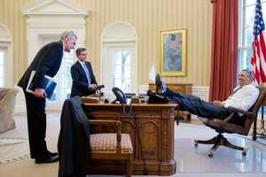 The Lean-Back President by Vanity Fair Set Captures Obama Relaxing