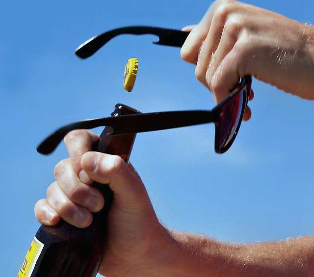 Beer-Popping Sunglasses