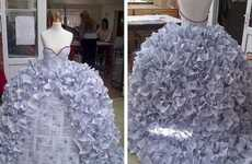 Cynical Wedding Gowns - Student Demi Barnes Fashions Dress Made Out of Divorce Papers