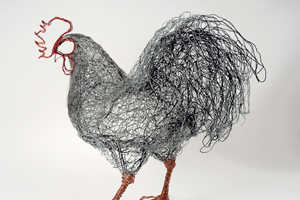 Celia Smith's Bird Sculpture Series is Made Out of Telephone Wire