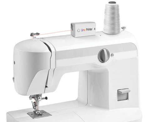 Cutting-Edge Thread Printers - The Line Printer Picks Up Fabric Colors and Dyes String to Match