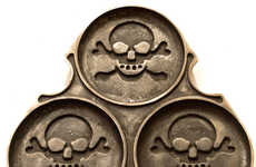 Skull-Patterned Pastry Pans - The Pirate Pancake Maker Creates Deliciously Devious Desserts