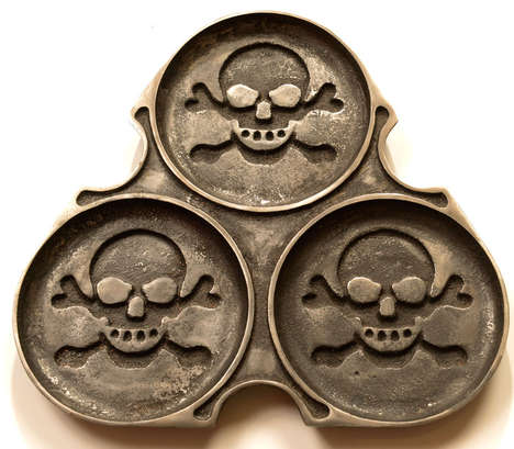 Skull-Patterned Pastry Pans - The Pirate Pancake Maker Creates Deliciously Devious Desserts (TrendHunter.com)