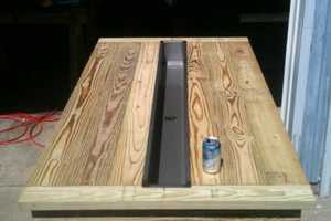 This Rustic Table From Builders Showcase Has Steel Trough