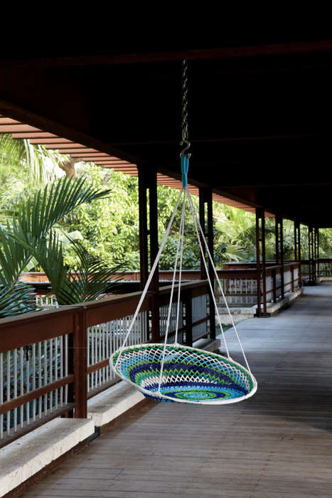 Crocheted Patio Swings - The Novogratz Brasil Collection for CB2 Can be Used Indoors or Outdoors