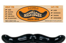 Mustache Cake Molds