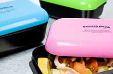 Mini Refrigerator Containers - These Compact Lunch Boxes by Frozzypack Safely Cool Your Meals