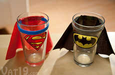 Caped Crusader Shot Glasses - These Super Hero Cups by Vat19 Will Please Any Comic Book Nerd