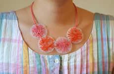 Upcycled Milk Jug Necklaces - This DIY Activity Uses Plastic and Colorful Thread to Make Jewelry