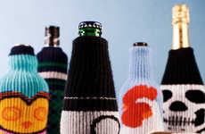Knitted Bottle Cozies