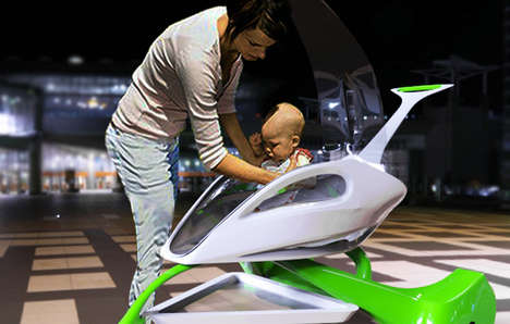 Spaceship-Inspired Prams - The Strollon Strives to Meet the Imaginative Expectations of its Occupant