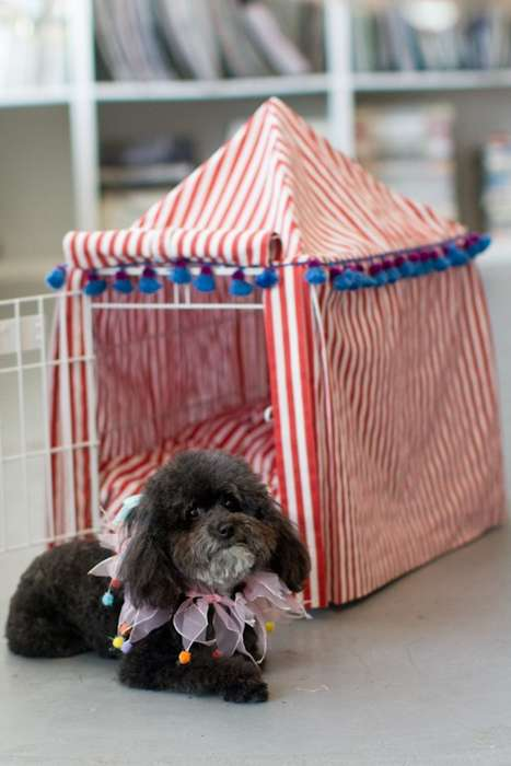 DIY Circus Canine Covers - This DIY Circus Kennel Cover Project is for Dog Lovers Only