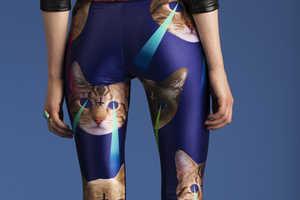 These Laser Cat Leggings are Severely Bizarre and Strange