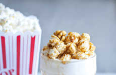 Movie Theater Snack Milkshakes - This 'Sugar and Charm' Caramel Popcorn Drink is Sweet and Salty