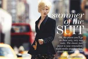 The 'Summer of the Suit' Editorial for Flare June 2013 is Chic